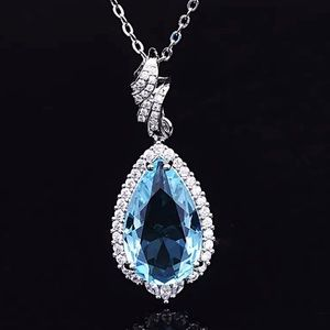 Dazzling Aquamarine Sterling Silver Necklace
